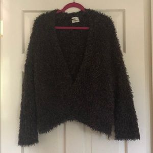 Pins and Needles Multicolor Fuzzy Cardigan